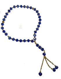 Kristal tasbih blauw