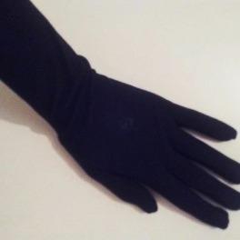 Handschoen kleur Zwart.