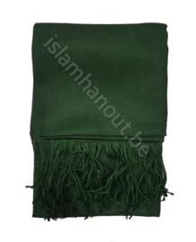 Pashmina sjaal donker groen