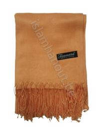 Pashmina sjaal licht oranje