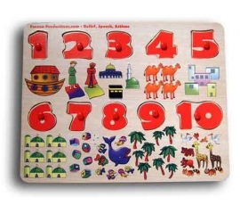 Number Wooden Board