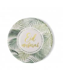 Eid mubarak borden Tropical (6 stuks)