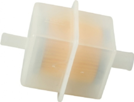 FUEL FILTER, SQUARE, PLASTIC