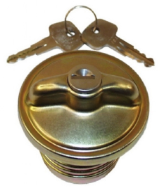 FUEL TANK CAP, LOCKABLE, METAL, WITH KEYS
