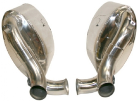 EXHAUST SET, SPORT, REAR, 60 MM INSIDE/OUTSIDE TUBING, STAINLESS STEEL, POLISHED