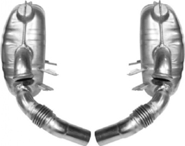 EXHAUST SET, SPORT, REAR, OE-STYLE, STAINLESS STEEL. WITH TÜV/EEC APPROVAL