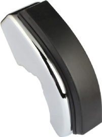 BUMPER HORN, FRONT, CHROME, WITH RUBBER BUFFER, FOR MODELS WITH NARROW TRIM, LEFT