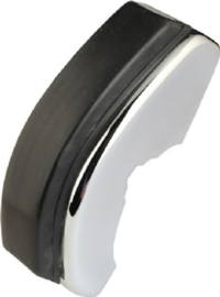 BUMPER HORN, FRONT, CHROME, WITH RUBBER BUFFER, FOR MODELS WITH NARROW TRIM, RIGHT