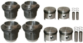 PISTON AND CYLINDER SET, BORE 93.0 MM, STROKE 66.0 MM, UPPER 105 MM, LOWER 100 MM, CLASSIC