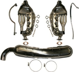 EXHAUST CONVERSION SET, FREE-FLOW, WITH LOOSE 84 MM TAIL PIPES