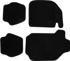 FLOOR MAT SET, 4 PCS., BLACK