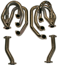 RACING HEADER SET WITHOUT HEATING FUNCTION, WITH PIPES, STAINLESS STEEL