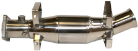 CATALYTIC CONVERTER, SPORT, STAINLESS STEEL, POLISHED