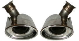 TAIL PIPE KIT, LEFT/RIGHT, STAINLESS STEEL