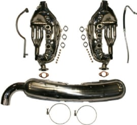 EXHAUST CONVERSION SET, FREE-FLOW, WITH LOOSE 84 MM TAIL PIPE (BUILT-IN MODIFICATION NEEDED)