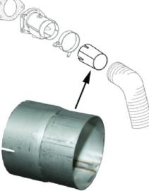Connectie stuk, heatcontrolbox, Roestvrijstaal, ssi
