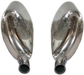 EXHAUST SET, SPORT, REAR, 60 MM INSIDE/OUTSIDE TUBING, STAINLESS STEEL, POLISHED. WITH TÜV/EEC APPROVAL