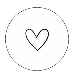 Onderzetter | wit hartje