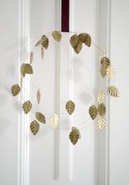 Metalen bladkrans goud