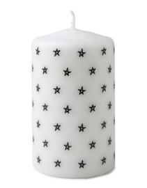Kaars | sterrenpatroon 10x6cm