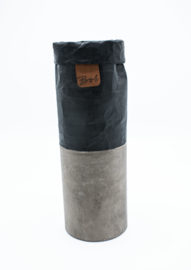 vaas betonlook | zwart