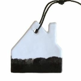 Hanger | Wit met zwarte onderkant