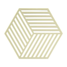 Onderzetter   hexagon 3d zand