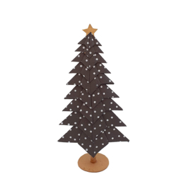 X-Mas Tree | Dots Black 21cm