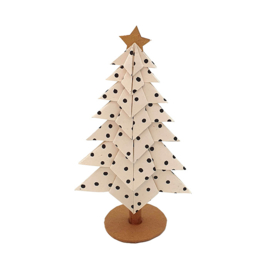 X-Mas Tree | Dots White 15cm
