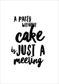 Kaart | a party without cake