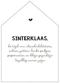 Huisje | gedicht Sint (incl houder)