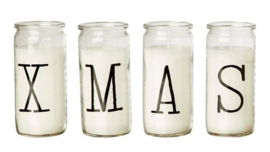 Kaarsen in glas | XMAS