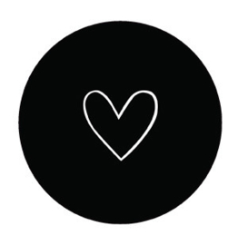 Onderzetter | zwart hartje