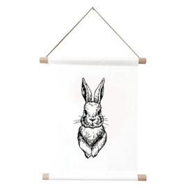 Textielposter | Rabbit