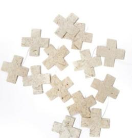 Woonslinger | kruisje olifantenpoep papier