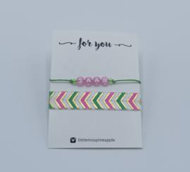 Armbandjes | naam met breed elastiek