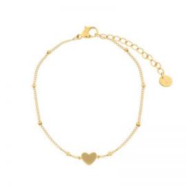 Armband gesloten hart | goud