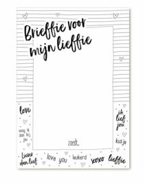 Notitieblok | Brieffie voor mijn lieffie