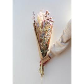 Droogboeket | Naturel pink medium