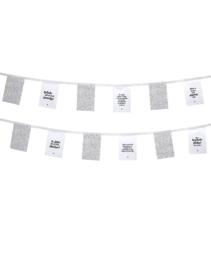 Vlaggenlijn voor buiten   stippenpatroon met tekst