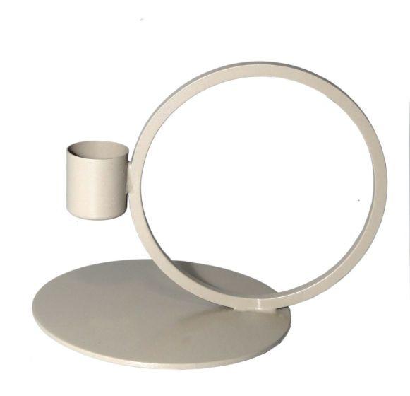 Kandelaar   Cirkel taupe 10cm