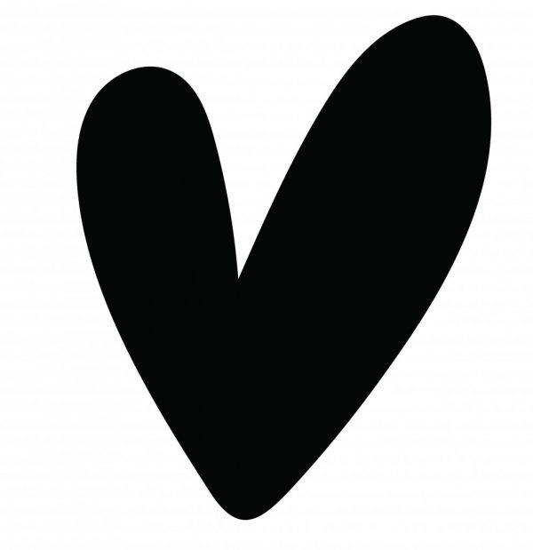 Muur hart zwart 40cm