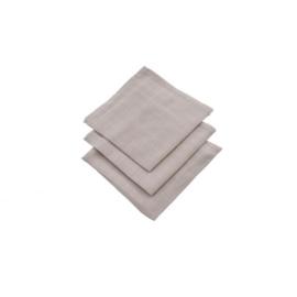 Jollein hydrofiel washandjes 3 stuks verpakt grijs