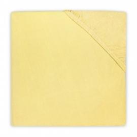 Jollein ledikant hoeslaken jersey geel