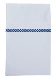 Cottonbaby ledikantlaken blauw ruitbies