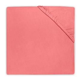 Jollein wieg hoeslaken jersey coral pink
