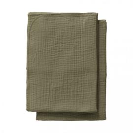 Cottonsoft  multidoeken maat S kaki groen