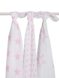 Jollein hydrofiel multidoek Little star roze