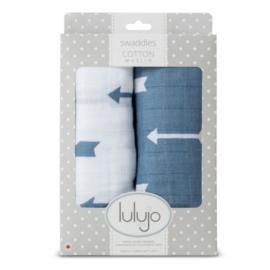 Lulujo Swaddle Blue Arrows