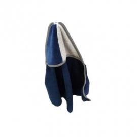 Pelusa badcape blauw